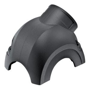 Harting Stekkerkap Yell. 30, M25 zijinv. - 11123001501 | Voor 3 modules | Han-Yellock® | 2 schroeven | M 25 x 1,5 Lateraal | IP65 / IP67 IP | Aluminium