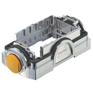 Harting Stekkerhouder Yell. 60 - 11126000100 | Voor 6 modules | Han-Yellock® | Drukknop | 0,14 4 mm² | IP65 / IP67 IP