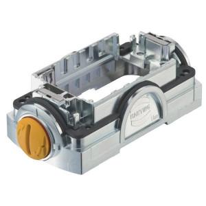 Harting Stekkerhouder Yell. 60 met groefslot - 11126000110 | Voor 6 modules | Han-Yellock® | Drukknop met groef | 0,14 4 mm² | IP65 / IP67 IP