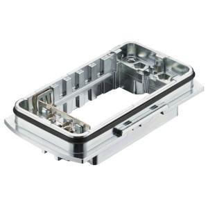 Harting Chassisdeel inbouw Yell. 60 kit - 11126000302 | Incl. pluggen | Voor 6 modules | Han-Yellock® | IP65 / IP67 IP | Huis, inbouw