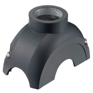 Harting Stekkerkap Yell. 60, M25 boveninv. - 11126001401 | Voor 6 modules | Han-Yellock® | 2 schroeven | M 25 x 1,5 Recht | IP65 / IP67 IP | Aluminium