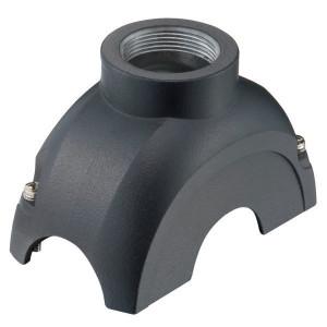 Harting Stekkerkap Yell. 60, M32 boveninv. - 11126001402 | Voor 6 modules | Han-Yellock® | 2 schroeven | M 32 x 1,5 Recht | IP65 / IP67 IP | Aluminium