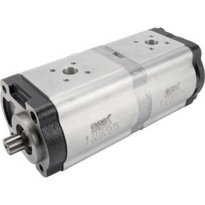 Gopart Hydrauliekpomp dubbel 22+14cc - 1176451N | 22 cc/omw | 190 bar p1 | 210 bar p2 | 230 bar p3 | 3000 Rpm omw./min. | 500 Rpm omw./min. | 216,5 mm | 216,5 mm | 58,6 mm | 40 mm | 35 mm