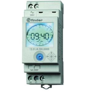 Finder Elektronische tijdschakelklok - 125182300000 | 1 Wisselcontact | AgSNO2 | 88.8 mm | 16 A | 60.8 mm | 250 V | 230 V | 4.000 VA | 750 VA | 10/10 V/mA