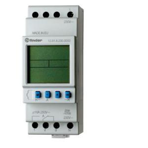 Finder Astro timer, 1W, 230 V,16A - 129182300000 | 1 Wisselcontact | AgSNO2 | 35.8 mm | 90 mm | 16 A | 63 mm | 250 V | 230 V | 4.000 VA | 750 VA | 10/10 V/mA