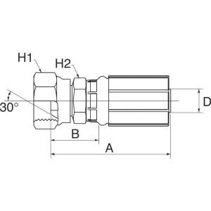 "Gates Pilaar DN20-3/4 NPTF - 12G12FPX | 3/4"" Inch | 20 mm | 84,5 mm | 33,5 mm | 31,8 mm | 3/4"" 14 NPSM NPTF | 12G12FPX"