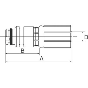 "Gates Pilaar Press-Lok DN20-3/4 - 12G12PL | 3/4"" Inch | 20 mm | 90,5 mm | 39,5 mm | 12G12PL"