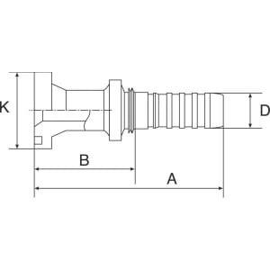 """Gates Pilaar Komatsu DN20-34,2 - 12GS10FLK   3/4"""" Inch   20 mm   110 mm   34,18 mm   5/8"""" Komatsu   12GS10FLK"""