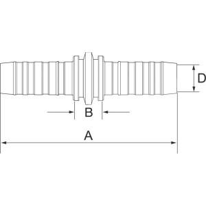 "Gates Pilaar DN20 - 12GS12HLE   3/4"" Inch   20 mm   163 mm   12GS12HLE"