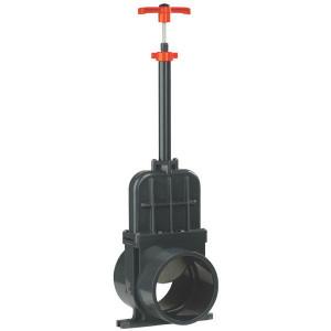 VdL Schuifafsluiter PVC D160mm lang - 1300160V | 500 mm | 478 mm | 888 mm | 163 mm | 160 mm | 0,5 bar