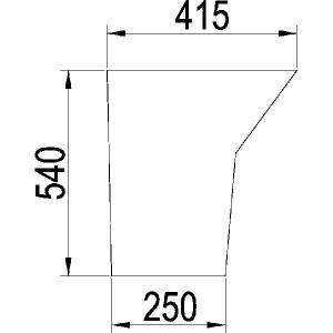 Zijruit - 1332268C1N | Links/rechts, Deur | 1332268C1 | Deluxe C82 | Helder | 540 mm | 415 mm