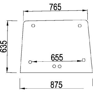 Voorraam opengaand - 140065A1N | Openen | 140065A1 | Helder | 875 mm | 635 mm