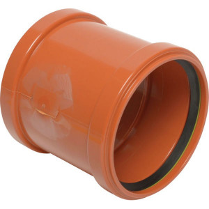 Mof dubbel PVC 110mm - 16153110001 | Drukloos | Oranje bruin RAL 8023 | 125 mm | 110 mm | 127 mm | 3,2 mm