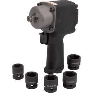 "Pneumatische slagmoersleutelset 1/2"" - 1919101205KR | 1/2 Inch | 540 Nm | 180 mm"