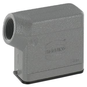 Harting Huis 10A M20 zijinvoer - 19200101540 | Lage bouwvorm | Han® A | 2 nokken | Lateraal | M 20 x 1,5 | IP65 IP | Aluminium | 79,5 x 29,5 x 61,5 mm | 6-13 mm
