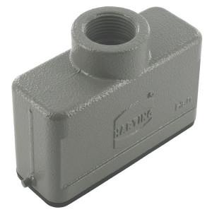 Harting Huis 16A M20 boveninvoer - 19200161440 | Lage bouwvorm | Han® A | 2 nokken | M 20 x 1,5 | IP65 IP | Aluminium