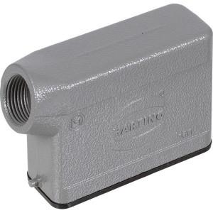 Harting Huis 16A M20 zijinvoer - 19200161540 | Lage bouwvorm | Han® A | 2 nokken | Lateraal | M 20 x 1,5 | IP65 IP | Aluminium