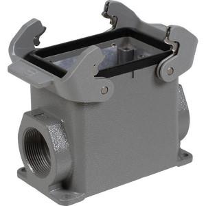 Harting Chassisdeel opbouw 32A 2xM32 - 19200320272 | Huis, opbouw | Lage bouwvorm | Han® A | 2 klemhaken | Lateraal | M 32 x 1,5 | IP65 IP | Aluminium
