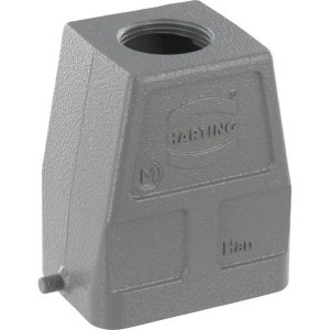 Harting Huis 6B M25 boveninvoer - 19300060446 | Hoge bouwvorm | Han® B | 2 nokken | M 25 x 1,5 | IP65 IP | Aluminium | 9-17mm mm | 60x43x72 mm
