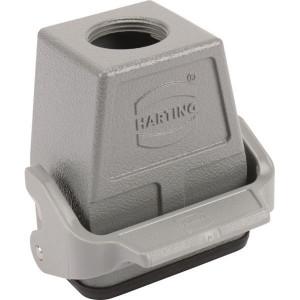 Harting Koppelhuis 6B M25 boveninvoer - 19300060756 | Hoge bouwvorm | Han® B | 1 klemhaak | M 25 x 1,5 | IP65 IP | Aluminium | 73x60x74.3 mm | kabel naar kabel | 9-17mm mm