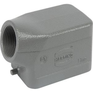 Harting Huis 6B M25 zijinvoer - 19300061541 | Lage bouwvorm | Han® B | 2 nokken | Lateraal | M 25 x 1,5 | IP65 IP | Aluminium | 9-17 mm | 60x43x46 mm