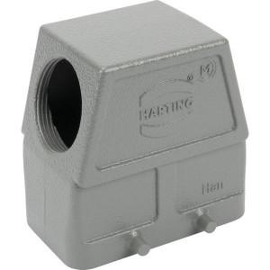 Harting Huis 10B M32 zijinvoer - 19300100527 | Hoge bouwvorm | Han® B | 4 nokken | Lateraal | M 32 x 1,5 | IP65 IP | Aluminium | 72.6x43x72 mm | 15-21 mm