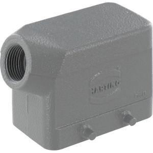 Harting Huis 10B M20 zijinvoer - 19300101520 | Lage bouwvorm | Han® B | 4 nokken | Lateraal | M 20 x 1,5 | IP65 IP | Aluminium | 6-13mm mm | 73x43x57 mm