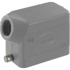 Harting Huis 10B M20 zijinvoer - 19300101540 | Lage bouwvorm | Han® B | 2 nokken | Lateraal | M 20 x 1,5 | IP65 IP | Aluminium | 93.5x43x62.5 mm | 6-13mm mm