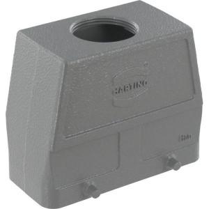 Harting Huis 16B M32 boveninvoer - 19300160427 | Hoge bouwvorm | Han® B | 4 nokken | M 32 x 1,5 | IP65 IP | Aluminium | 93.5x43x76 mm | 15-21 mm