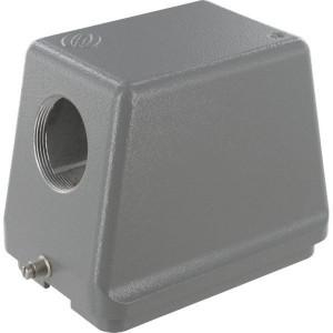 Harting Huis 48B M40 zijinvoer - 19300480548 | Hoge bouwvorm | Han® B | 2 nokken | Lateraal | M 40 x 1,5 | IP65 IP | Aluminium