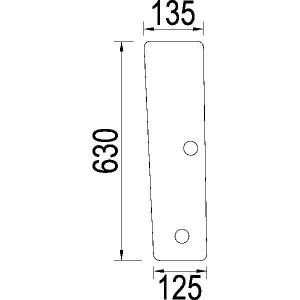 Voorraam onder - 1984528C1N | 1984.528C1 | Helder | 630 mm | 135 mm