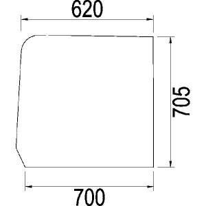 Deurraam boven - 1984574C1N | Links/rechts, Boven | 1984574C1 | Helder | 705 mm | 700 mm