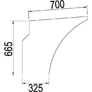 Deurraam onder - 1984586C1N | Links/rechts, Onder | 1984586C1 | Helder | 710 mm | 670 mm