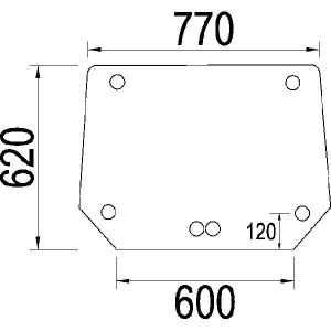 Achterruit - 1984587C1N | 1984587C1 | Helder | 790 mm | 620 mm