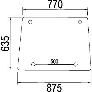 Voorruit vast - 1984603C1N | 1984603C1 | Helder | 875 mm | 635 mm