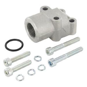 OMT Flens haaks 1/2 - 1GB08 | 35 mm | 14 mm | 42,5 mm | 18,72 x 2,62 | 180 bar | 1/2 BSP | Aluminium | M6 x 30/ M6 x45