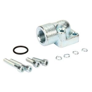 OMT Flens haaks staal 1/2 - 1GB08ST | 35 mm | 18,72 x 2,62 | 315 bar | 1/2 BSP | M6 x 20/ M6 x35