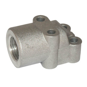 OMT Flens haaks 1/2 - 1GQ08 | 30 mm | 13 mm | 33 mm | 15,88 x 2,62 | 180 bar | 1/2 BSP | Aluminium | M6x30 M6x45