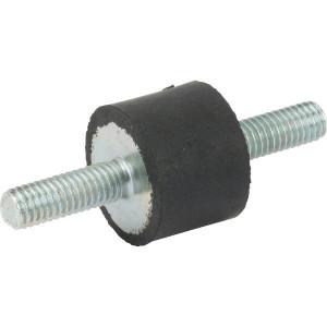 Trillingsdemper TYPE A - 2015A55 | 20 mm | 15 mm | M6 x 18 mm | 55 ° SH | 248 N max | 1.7 mm max