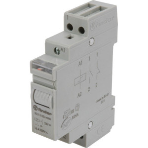 Finder Impulsrelais, 24VDC, 1NO - 202190244000 | 16 A | 400 V | 24VDC V | 4.000 VA | 750 VA | 1.000 (10/10) V/mA