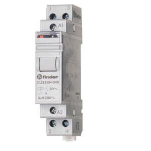 Finder Impulsrelais, 1NO, 1NC, 230VAC - 202382304000 | 16 A | 400 V | 230V AC V | 4.000 VA | 750 VA | 1 (10/10) V/mA