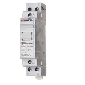 Finder Stroomstootschakelaar 24VDC - 202390244000 | 16 A | 400 V | 24VDC V | 4.000 VA | 750 VA | 1 (10/10) V/mA