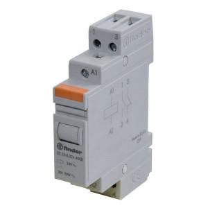 Finder Installatierelais 20A 24V AC - 222380244000 | 20 A | 250 V | 24V AC V | 5.000 VA | 1.000 VA | 20/0.3/0.12 A | 1 (10/10) V/mA | 15/8 ms