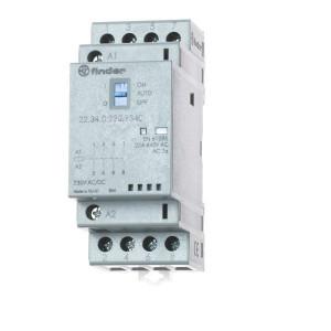 Finder Installatierelais 25A - 223402301340 | 25 A | 250 V | 230V AC V | 6.250 VA | 1.800 VA | 25/5/1 A | 1 (10/10) V/mA | 18/40 ms