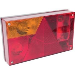 Aspöck Achterlamp Multipoint links - 245000007 | inclusief gloeilampen | met mistlicht