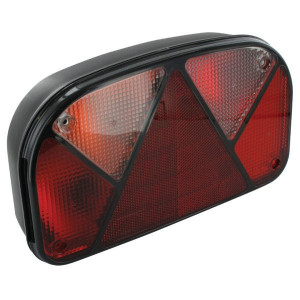 Aspöck Achterlicht li. met mistlamp - 247000157 | zijplaatverlichting | versie met tule | Mistlamp