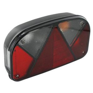 Aspöck Achterlicht re. met achteruitrijlichten met Kentl. bajonetaansluiting - 247210007 | zijplaatverlichting | 5-pens bajonet | Achteruitrijlamp | rechts