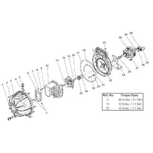 Hypro Motorhyd. HM1C REV ROT - 25000281C