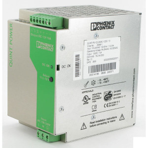 Phoenix Contact Voeding 100-240V 12V10APhoenix - 2938811 | 1.300 g | 85x130x130 mm | 100 ... 240V AC V | 85V AC ... 264V AC V | 90V .... 350V DC | 45 ... 65Hz Hz | 12V DC +/1% V | 11,5 .... 18 V