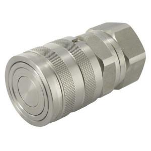 "Faster Koppelhuis 3/4"" BSP RVS-Viton - 2FFI34GASF2V | NBR / PTFE | ISO 16028 | verzinkt wit gepassiveerd | 48 mm"